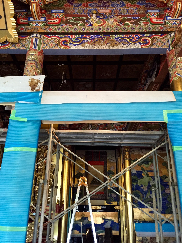 Buddhism temple 法衣店 出張 川勝直七