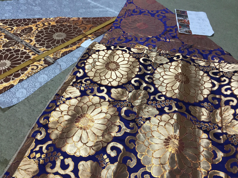 Buddhism kyoto tradition naoshichi fabric repair 七条袈裟修繕 川勝直七