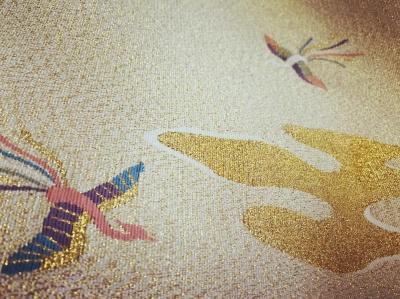 七条袈裟 爪掻綴れ 川勝直七 Buddhism kyoto tradition fabric